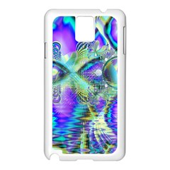 Abstract Peacock Celebration, Golden Violet Teal Samsung Galaxy Note 3 N9005 Case (White)