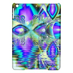 Abstract Peacock Celebration, Golden Violet Teal Apple iPad Air Hardshell Case