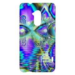 Abstract Peacock Celebration, Golden Violet Teal HTC One Max (T6) Hardshell Case