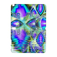 Abstract Peacock Celebration, Golden Violet Teal Samsung Galaxy Note 10 1 (p600) Hardshell Case