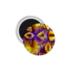 Golden Violet Crystal Palace, Abstract Cosmic Explosion 1.75  Button Magnet