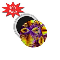 Golden Violet Crystal Palace, Abstract Cosmic Explosion 1.75  Button Magnet (100 pack)