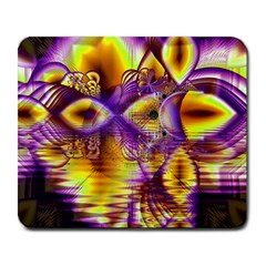 Golden Violet Crystal Palace, Abstract Cosmic Explosion Large Mouse Pad (Rectangle)