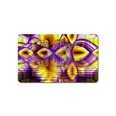Golden Violet Crystal Palace, Abstract Cosmic Explosion Magnet (name Card)