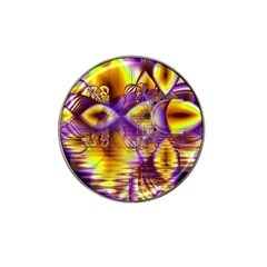 Golden Violet Crystal Palace, Abstract Cosmic Explosion Golf Ball Marker 4 Pack (for Hat Clip)
