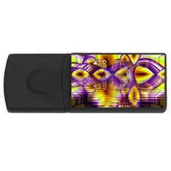 Golden Violet Crystal Palace, Abstract Cosmic Explosion 4gb Usb Flash Drive (rectangle)