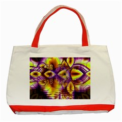 Golden Violet Crystal Palace, Abstract Cosmic Explosion Classic Tote Bag (Red)