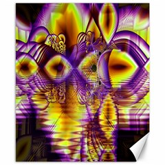 Golden Violet Crystal Palace, Abstract Cosmic Explosion Canvas 8  x 10  (Unframed)