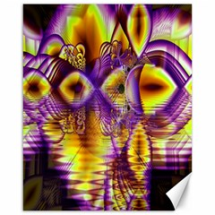 Golden Violet Crystal Palace, Abstract Cosmic Explosion Canvas 16  x 20  (Unframed)