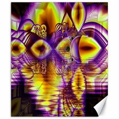 Golden Violet Crystal Palace, Abstract Cosmic Explosion Canvas 20  x 24  (Unframed)