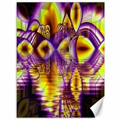 Golden Violet Crystal Palace, Abstract Cosmic Explosion Canvas 36  x 48  (Unframed)