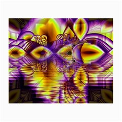 Golden Violet Crystal Palace, Abstract Cosmic Explosion Glasses Cloth (Small, Two Sided)