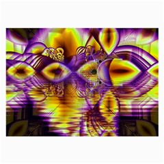 Golden Violet Crystal Palace, Abstract Cosmic Explosion Glasses Cloth (Large, Two Sided)