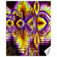 Golden Violet Crystal Palace, Abstract Cosmic Explosion Canvas 11  x 14  (Unframed)