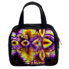 Golden Violet Crystal Palace, Abstract Cosmic Explosion Classic Handbag (two Sides)