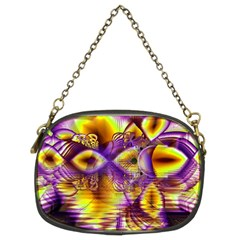 Golden Violet Crystal Palace, Abstract Cosmic Explosion Chain Purse (two Sided)
