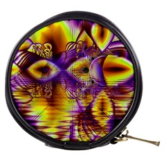 Golden Violet Crystal Palace, Abstract Cosmic Explosion Mini Makeup Case