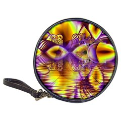 Golden Violet Crystal Palace, Abstract Cosmic Explosion CD Wallet