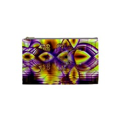 Golden Violet Crystal Palace, Abstract Cosmic Explosion Cosmetic Bag (small)