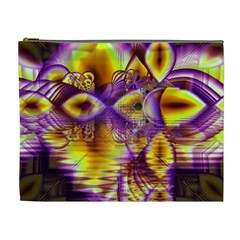Golden Violet Crystal Palace, Abstract Cosmic Explosion Cosmetic Bag (xl)