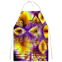 Golden Violet Crystal Palace, Abstract Cosmic Explosion Apron