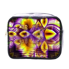 Golden Violet Crystal Palace, Abstract Cosmic Explosion Mini Travel Toiletry Bag (one Side)