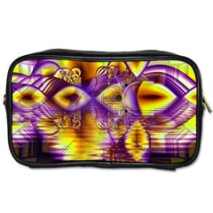 Golden Violet Crystal Palace, Abstract Cosmic Explosion Travel Toiletry Bag (two Sides)