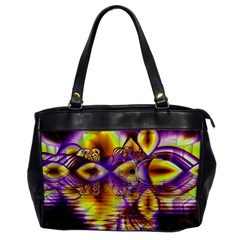 Golden Violet Crystal Palace, Abstract Cosmic Explosion Oversize Office Handbag (one Side)