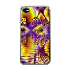 Golden Violet Crystal Palace, Abstract Cosmic Explosion Apple Iphone 4 Case (clear)
