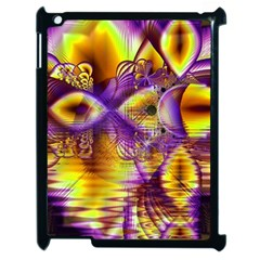 Golden Violet Crystal Palace, Abstract Cosmic Explosion Apple Ipad 2 Case (black)