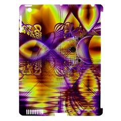 Golden Violet Crystal Palace, Abstract Cosmic Explosion Apple iPad 3/4 Hardshell Case (Compatible with Smart Cover)