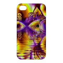 Golden Violet Crystal Palace, Abstract Cosmic Explosion Apple iPhone 4/4S Premium Hardshell Case