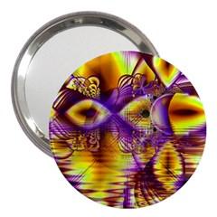 Golden Violet Crystal Palace, Abstract Cosmic Explosion 3  Handbag Mirror
