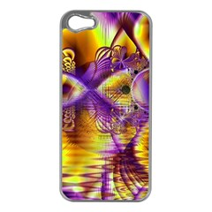 Golden Violet Crystal Palace, Abstract Cosmic Explosion Apple Iphone 5 Case (silver)