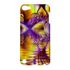 Golden Violet Crystal Palace, Abstract Cosmic Explosion Apple Ipod Touch 5 Hardshell Case