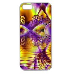 Golden Violet Crystal Palace, Abstract Cosmic Explosion Apple Seamless Iphone 5 Case (clear)