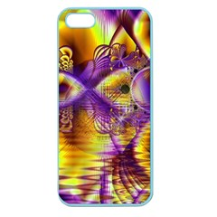 Golden Violet Crystal Palace, Abstract Cosmic Explosion Apple Seamless iPhone 5 Case (Color)