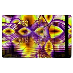 Golden Violet Crystal Palace, Abstract Cosmic Explosion Apple iPad 2 Flip Case