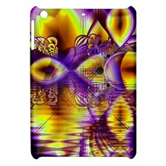 Golden Violet Crystal Palace, Abstract Cosmic Explosion Apple Ipad Mini Hardshell Case