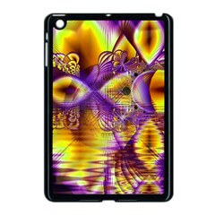 Golden Violet Crystal Palace, Abstract Cosmic Explosion Apple Ipad Mini Case (black)