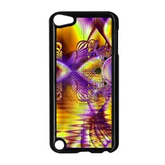 Golden Violet Crystal Palace, Abstract Cosmic Explosion Apple iPod Touch 5 Case (Black)