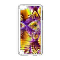 Golden Violet Crystal Palace, Abstract Cosmic Explosion Apple iPod Touch 5 Case (White)