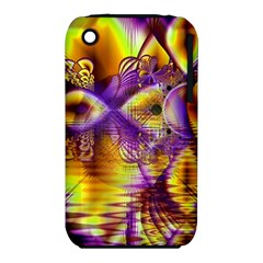 Golden Violet Crystal Palace, Abstract Cosmic Explosion Apple iPhone 3G/3GS Hardshell Case (PC+Silicone)