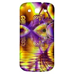 Golden Violet Crystal Palace, Abstract Cosmic Explosion Samsung Galaxy S3 S Iii Classic Hardshell Back Case