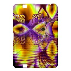 Golden Violet Crystal Palace, Abstract Cosmic Explosion Kindle Fire HD 8.9  Hardshell Case