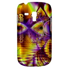Golden Violet Crystal Palace, Abstract Cosmic Explosion Samsung Galaxy S3 MINI I8190 Hardshell Case