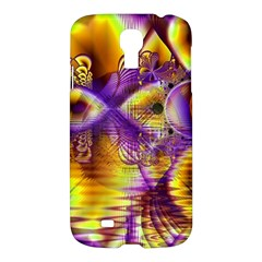 Golden Violet Crystal Palace, Abstract Cosmic Explosion Samsung Galaxy S4 I9500/I9505 Hardshell Case