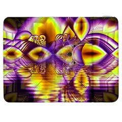 Golden Violet Crystal Palace, Abstract Cosmic Explosion Samsung Galaxy Tab 7  P1000 Flip Case