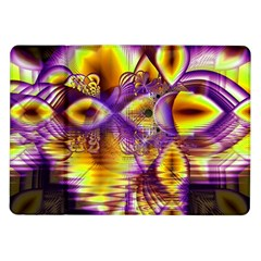 Golden Violet Crystal Palace, Abstract Cosmic Explosion Samsung Galaxy Tab 10.1  P7500 Flip Case
