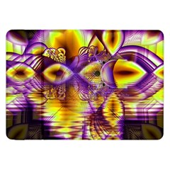 Golden Violet Crystal Palace, Abstract Cosmic Explosion Samsung Galaxy Tab 8.9  P7300 Flip Case